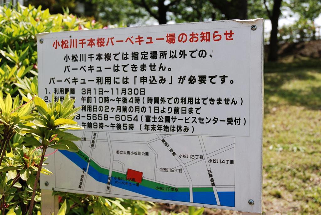 小松川千本桜 バーベキュー